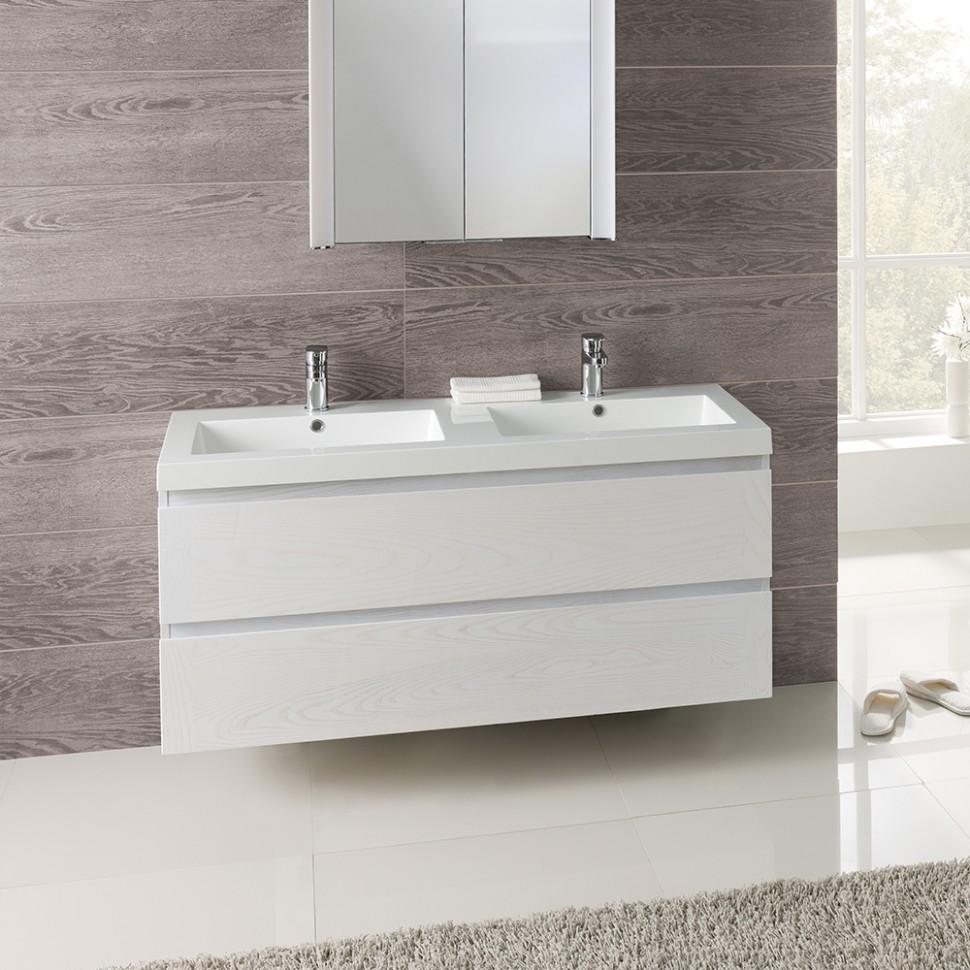 Birch vanity unit plastic storage chest